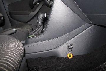 Фото противоугонной системы в VW поло (блокировка КПП)