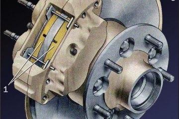 Схема дискового тормоза