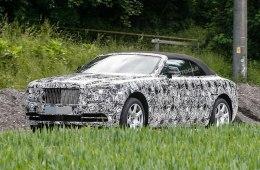 Шпионское фото нового авто от Rolls-Royce Dawn на базе купе Wraith