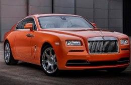 Модель Rolls-Royce Wraith получила оригинальный оранжевый оттенок