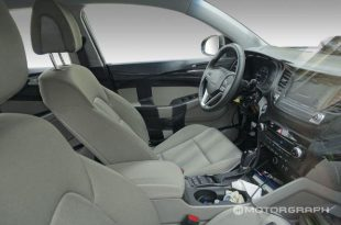 Шпионское фото салона Hyundai ix35 2015-2016