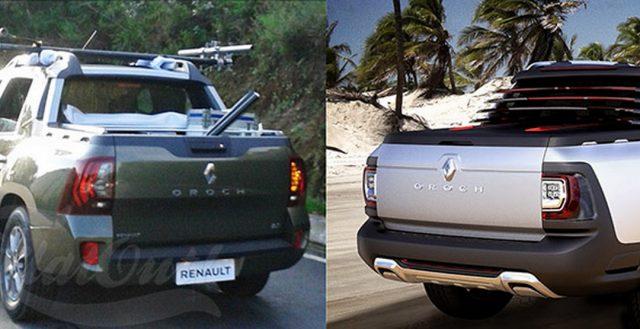 Renault Oroch попал в объективы бразильских автомобильных шпионов