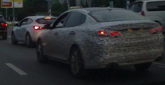 Рестайлинговую Kia Optima запечатлели на московских дорогах