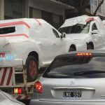 Пикапы Oroch от Renault заметили по пути на презентацию