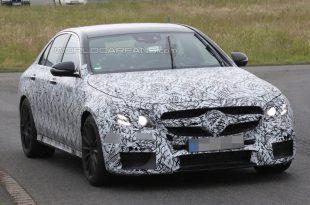 На трассе Нюрбургринга Mercedes начал испытания своей новинки E63 AMG