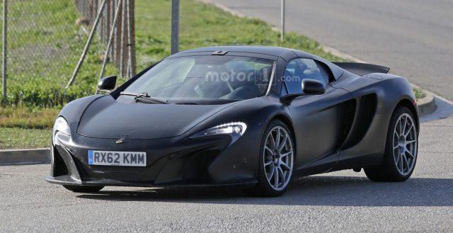 В следующем году компания McLaren может показать свою модель 675LT Spider