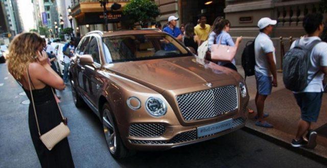 Новинка Bentley Bentayga была замечена на мероприятии Нью-Йорка