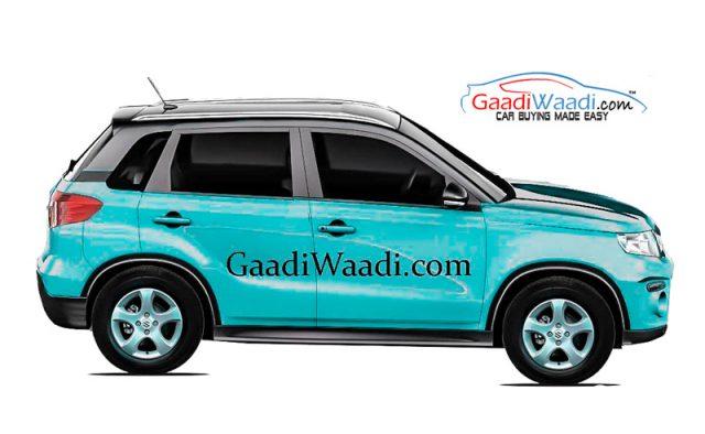 Размещены первые эскизы нового Suzuki Vitara Brezza индийской сборки