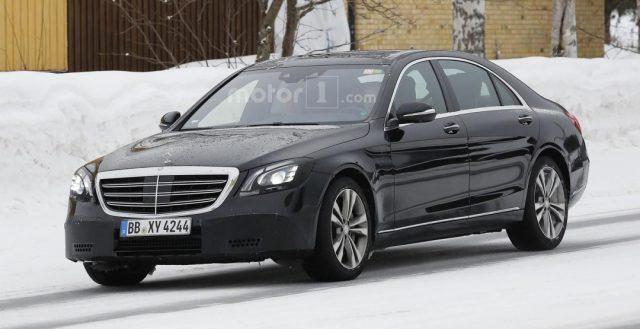 Практически «голый» прообраз Mercedes S-class замечен на дорогах