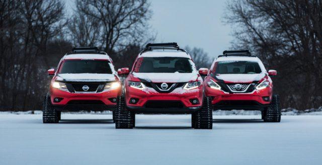 Сразу же три прообраза под названием Nissan Winter Warrior рассекречены