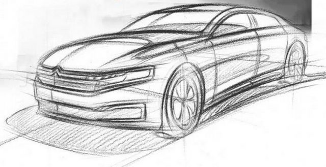 Опубликована рекламная зарисовка китайской версии автомобиля Citroen C6