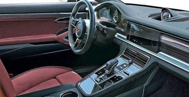 Поклонники компании Порше впервые смогли разглядеть салон обновленной модели Panamera