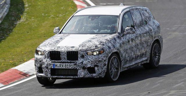 Новинку BMW X3 M 2018 привезли на трассу Нюрбургринга для тестированая