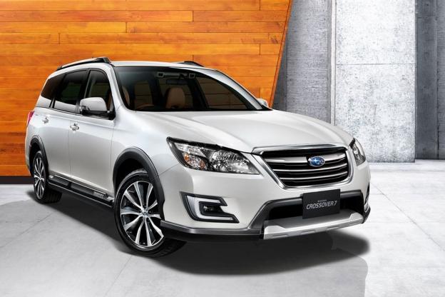 Фото Subaru Exiga Crossover 7 2016 2017 спереди