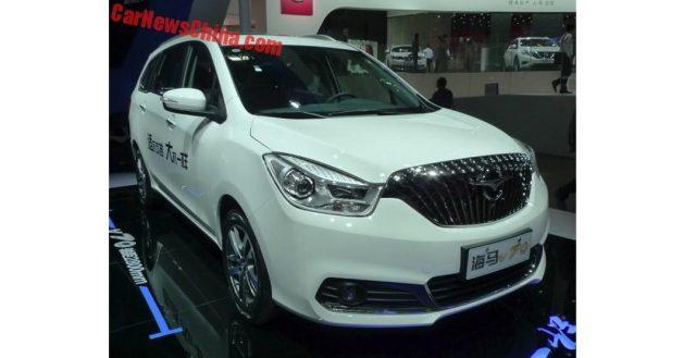 В КНР уже вышел в продажу новый минивен В70 от компании Хайма