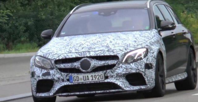В Интернете появилось видео с участием новинки Mersedes-AMG E63 в двух вариантах кузова