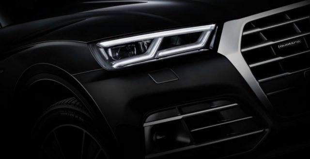 Компания Audi на этот раз показала багажное отделение и переднюю часть своей новинки Q5