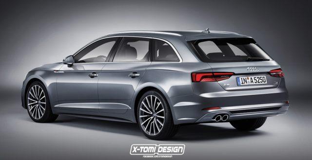В сети появился официальный рендер немецкой новинки Audi A5 Avant