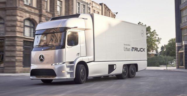 Представлен немецкий грузовой автомобиль с электрической установкой Mercedes-Benz Urban Etruck