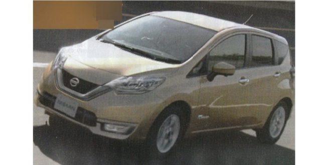 В Интернете появилось изображение доработанного автомобиля Note от компании Nissan