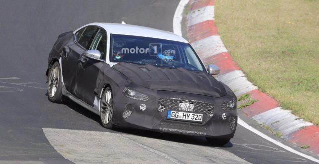 На территории Нюргбургринга уже тестируется свежий и быстрый седан Genesis G70