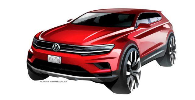 Представители бренда VW показали компьютерные зарисовки новинки Tiguan Allspace