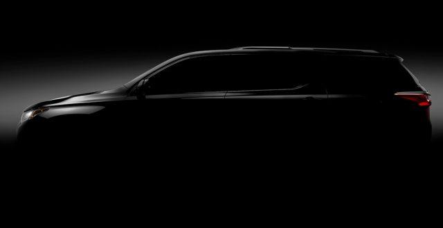 В сети появился первый тизер американской новинки Chevrolet Traverse
