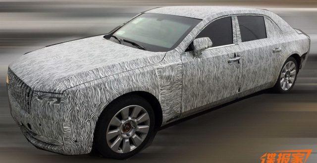 Свежий седан от компании Hongqi внешне напоминает Rolls-Royce