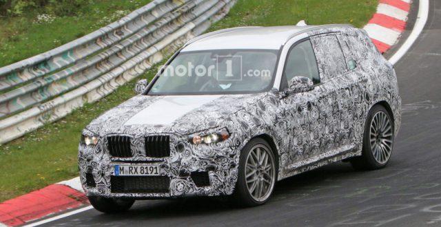 Прообраз нового поколения BMW X3 M тестируется на Нюрбургринге